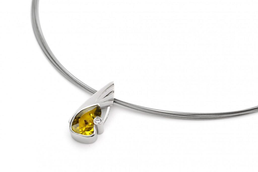 Yellow Gemstone Pendant