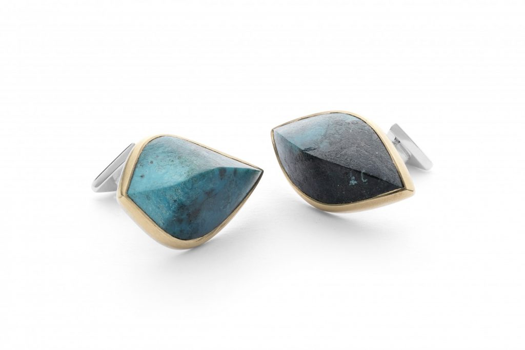 Chrysocolla Cufflinks