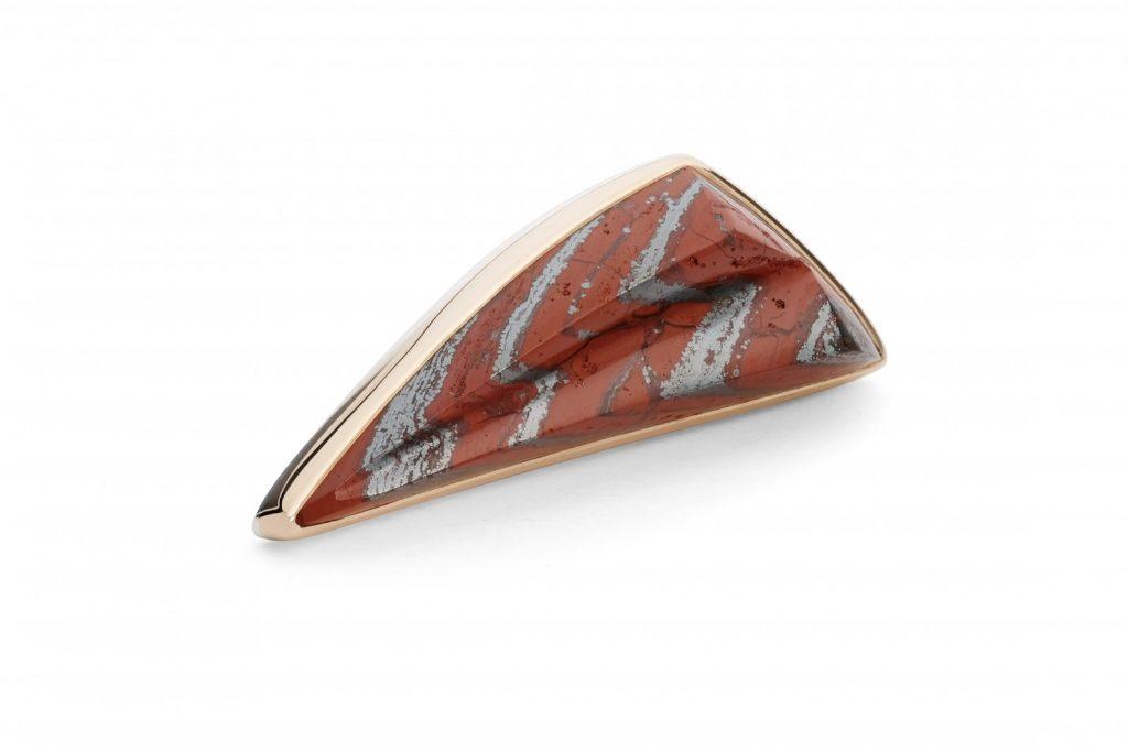 Red Jasper Lapel Pin