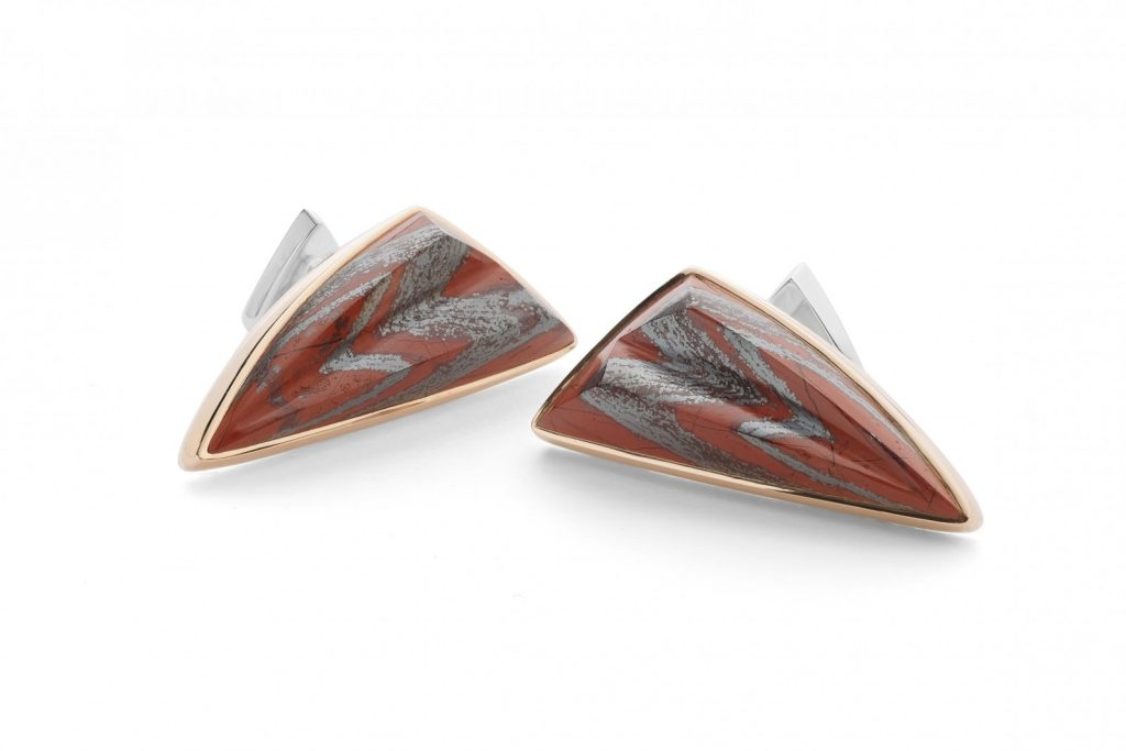 Red Jasper and Haematite Cufflinks