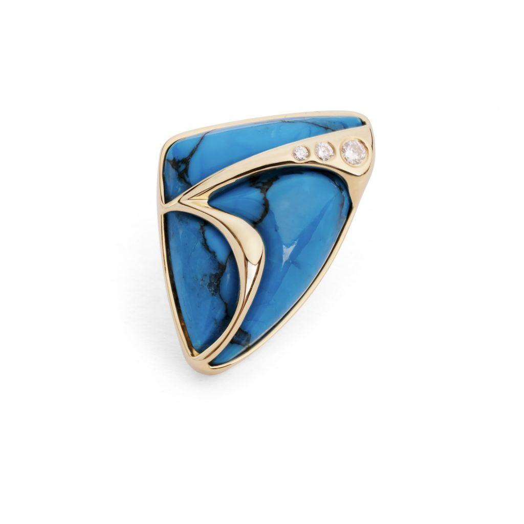 Turquoise Lapel Pin