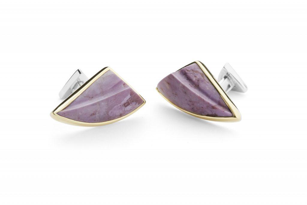 Lavender Jade Cufflinks