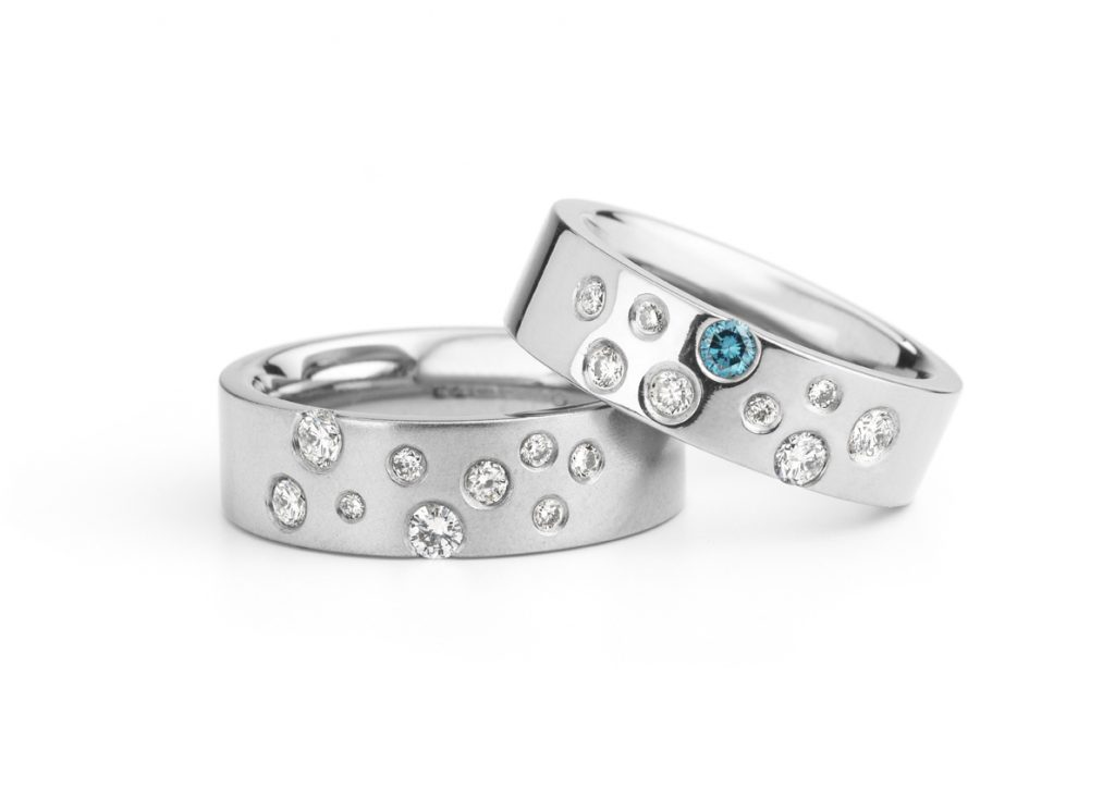 Diamond Scatter Rings