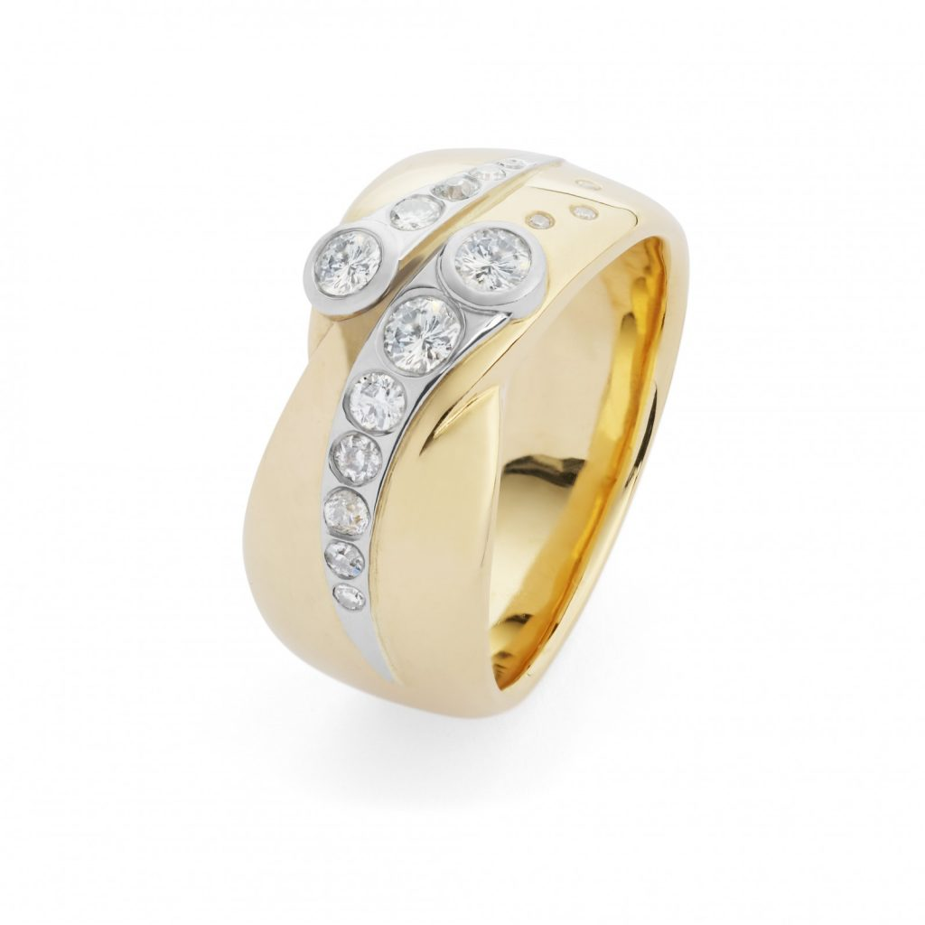 Gold and Platinum Diamond Ring