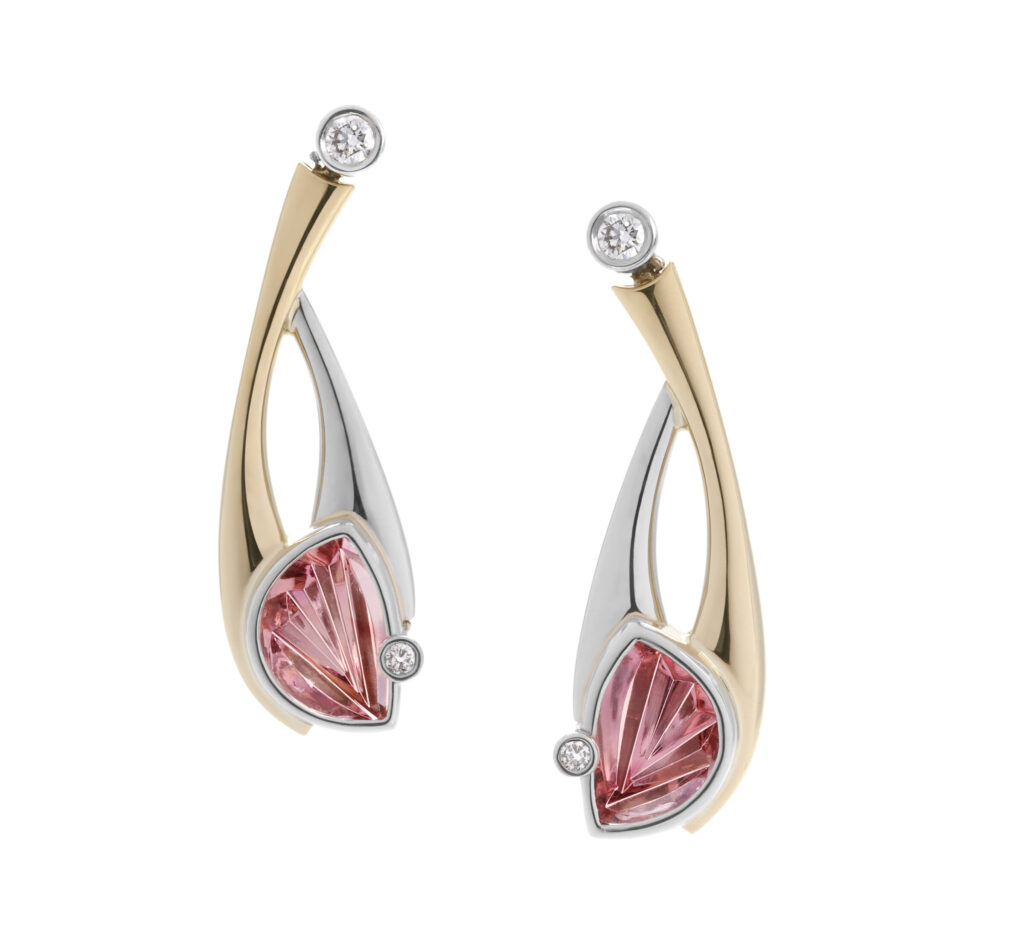 Pink Tourmaline Earrings
