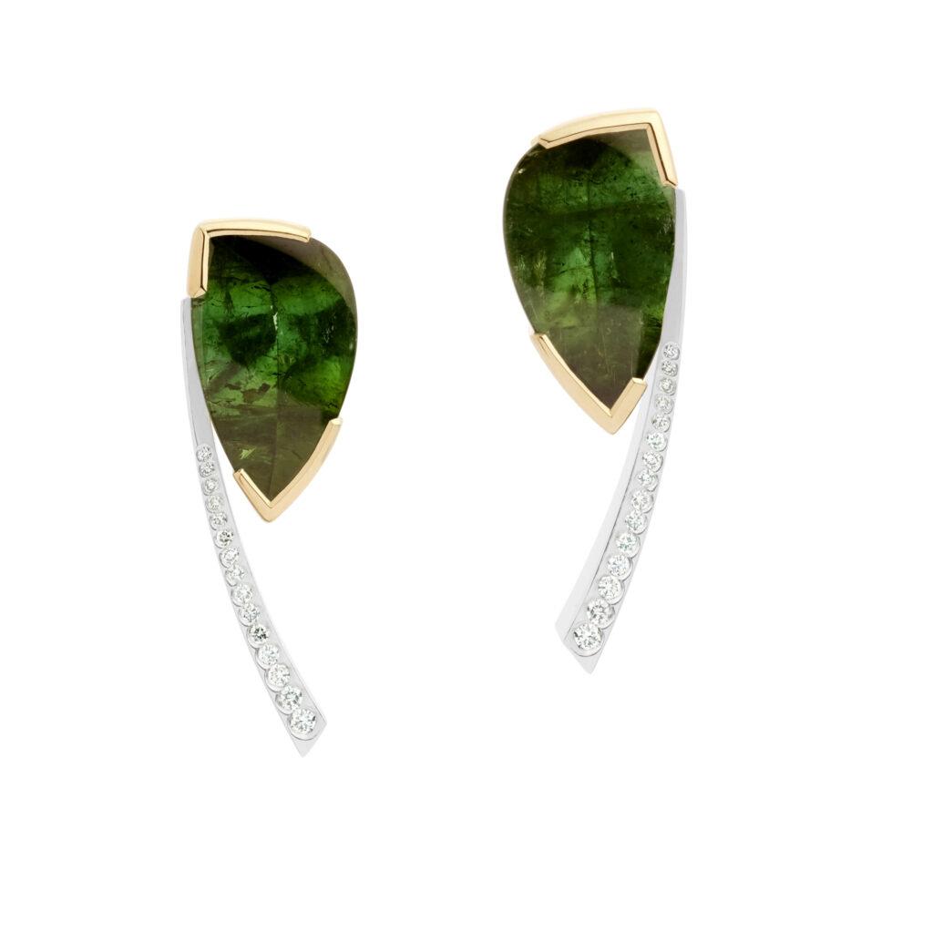 Brazilian Green Tourmaline Earrings